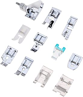 11 Pcs Sewing Machine Presser Feet Set for Low Shank Snap-On Sewing Machine Singer, Brother, Babylock, Euro-Pro, Janome, Kenmore, White, Juki, New Home Sewing Machines