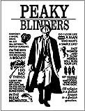 Blechschild mit Aufschrift Peaky Blinders, Vintage-Stil, 20
