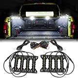 LED Truck Bed Lights, OFFROADTOWN 8 Pods LED Cargo Rock Lights w/Switch Pickup Bed Lights Kit Rock Light Truck Accessories for Pickup Under Car Cargo Bed Side Marker Foot Wells Rail Lights - White