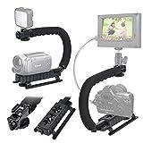 stabilisateur Handheld, Action Vidéo Poignée Grip avec Sabot de Montage pour Canon Nikon Sony Panasonic Pentax Olympus caméscope Appareil Photo Reflex numérique