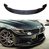 YOUNGERCAR Front Bumper Lip For 2014-2020 BMW 4 Series F32 F33 F36 M-Performance Style Performance Style Front Lip Lower Lip Splitter (Matte black)