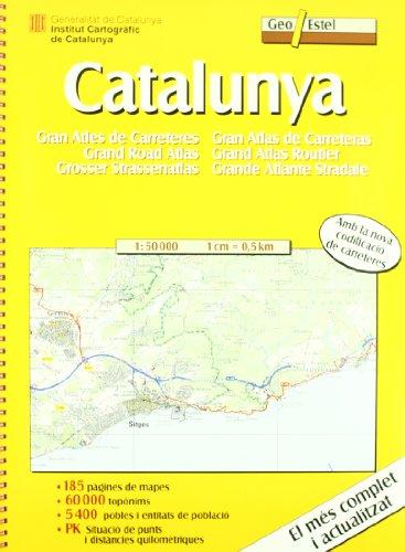 Catalunya. Gran atles de carreteres (Mapas de carreteras. Comunidades autónomas y regio)