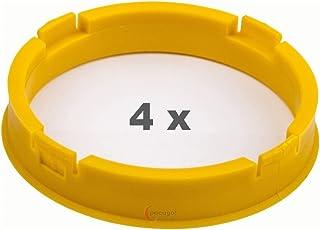 4 x Zentrierringe 73.1mm auf 65.1 mm hellgelb/lightyellow