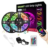 LUMIMAN Smart LED Strip Lights Rope Lights, WiFi RGB Remote Control Kit Sync with Music 32.8ft (10M) 300leds 5050 Waterproof IP65, Work with Alexa and Google Assistant, Android and iOS