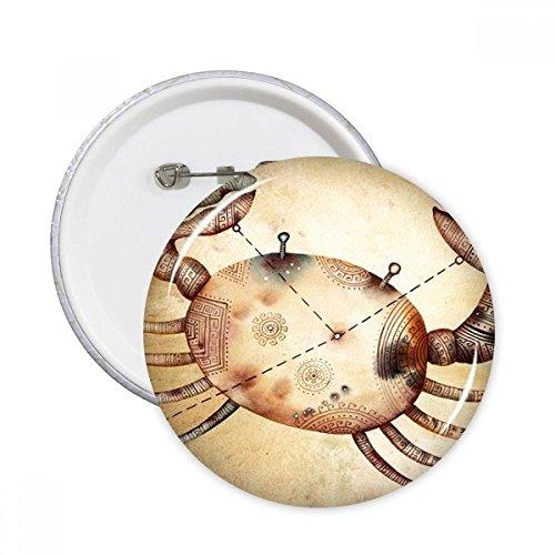 DIYthinker juni juli kanker sterrenbeeld dierenriem ronde pinnen badge knop kleding decoratie cadeau 5 Stks S Multi kleuren