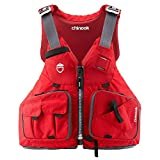 NRS PFD Foam Chinook Unisex Fishing Kayak Lifejacket, Red, Size Small/Medium