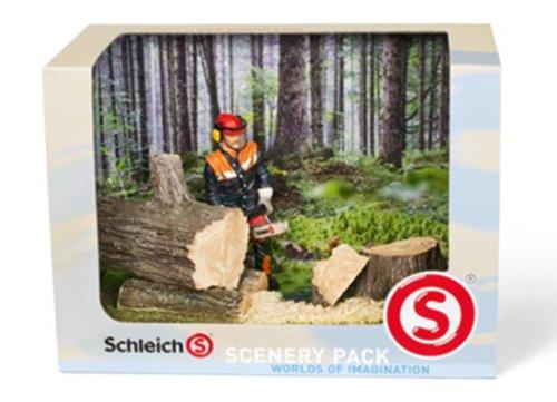 SCHLEICH 41806 - Catalog Scenery Pack Waldarbeit