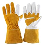 Leather Gardening Gloves for Women and Men Thorn Proof Cowhide Work Gloves...