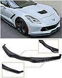 Extreme Online Store for 2014-Present Chevrolet Corvette C7 | Z06 Z07 Stage 2 Style Front Bumper Lower Lip Splitter (ABS Plastic - Primer Black)