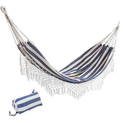 Comfortabel Outdoor Hammock 200 x 100 cm Tuin Swing Hangmat voor Outdoor Camping Hangende Stoel Bed voor Slaaplading 150 kg voor Camping Reizen met Rugzak