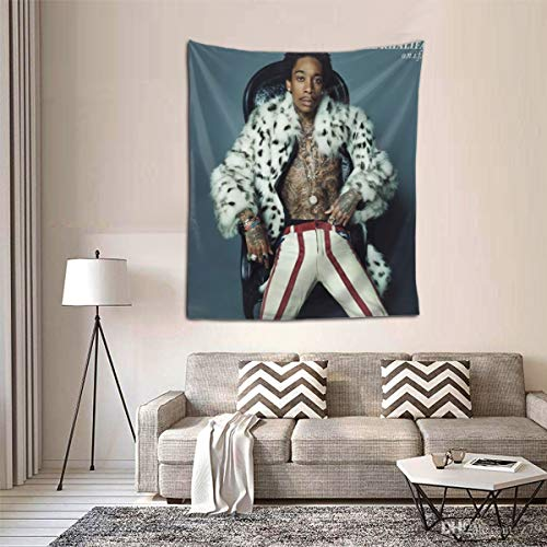 MAJJAKJH Decoration Tapestry Wiz Khalifa O.N.I.F.C. Band, Art Wall Hanging Bedroom Living Room College Dormitory TV Background Wall Blanket 60X51 Inches