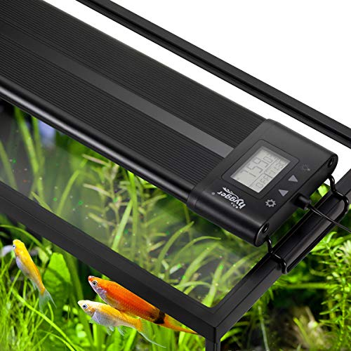 Hygger Auto On Off 30-36 Inch LED Aquarium Light Extendable Dimmable 7 Colors Full Spectrum Light Fixture for Freshwater Planted Tank Build in Timer Sunrise Sunset