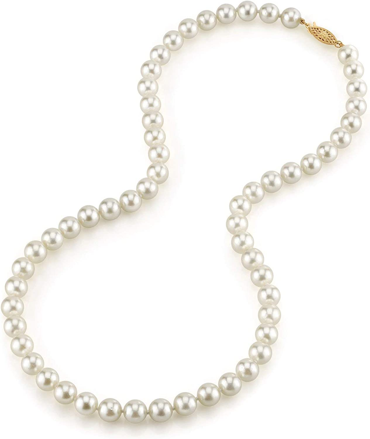 THE Max 53% OFF PEARL SOURCE 14K Gold Genuine Round 5.0-5.5mm White half Japanese