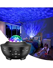 Galaxy Projector Light, Night Light Projector LED Star Projector Color Changing Lamp Rotating Romantic Star Wave Projector Remote Control Bluetooth USB Music Speaker 10 Color Mode Timer Home Stage