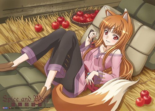 Great Eastern Entertainment Spice and Wolf Holo with Apple Wall Scroll, 31 by 44-Inch