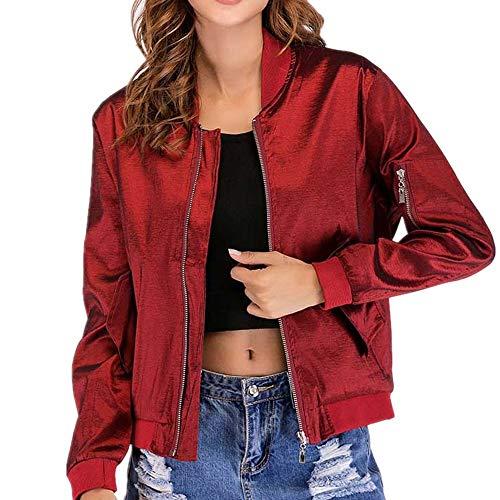 Gwei Bomberjack voor dames, lente, herfst, bikerjack, gewatteerde jas, vliegenjas, korte jas
