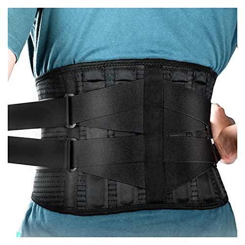GuanRo Las ortesis Ajustables elásticas de los Hombres y Las Mujeres, Las Cinturones de Soporte Lumbar de la Espalda Baja for aliviar el Lumbago causado por los Discos intervertebrales (Tamaño : L)