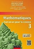 Mathématiques Tout-en-un pour la Licence 3 - Cours complet avec applications et 300 exercices corrigés