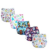 Pack of 5 basic pocket diapers without inserts Certified and tested safe- tested for lead and phthalates. Cpsia (US) certified cloth diapers Waterproof, washable, reusable and one size: waterproof diaper that easily lasts 2-3 hours for an average wet...