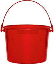 Plastic Bucket | Apple Red | Party Accessory | 12 Ct.