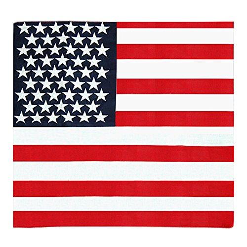 Gleader amerikanischen Stars and Stripes USA Flagge Bandana Haarband aus 100% Top-Qualitaet Stoff