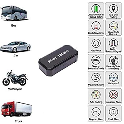 YangtongLK Magnet GPS Car Tracker for Vehicles Cars Wireless Mini Real Time GPS Locator Tracking 90 Days Standby time, for Car Motorcycle Truck Kids Teens Old LM003