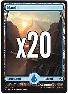 20 Amonkhet Island #251 Magic the Gathering Basic FULL ART Land Lot