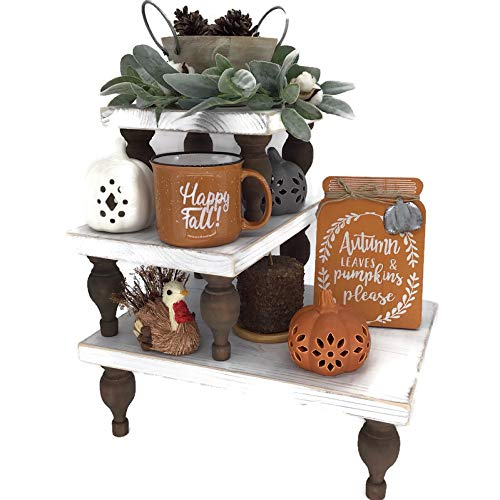 Tiered Tray Decor Fall Set of 3 Used as Coffee Bar Decor a Display Riser Rustic Cupcake Stand or Wood Cake Stand Impress Guests with Your Wood Serving Trays or Rustic Wedding Cake Stand