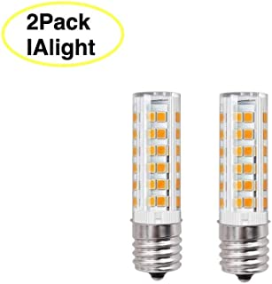 8206232A Light Bulb C9 E17 LED Bulb Microwave oven Light Dimmable 6W Appliance Bulb 580LM 60W Halogen Equivalent E17 LED Ceramic Bulb for Microwave Oven Appliance,Ceiling Fan(Day Light 6000k)Pack of 2