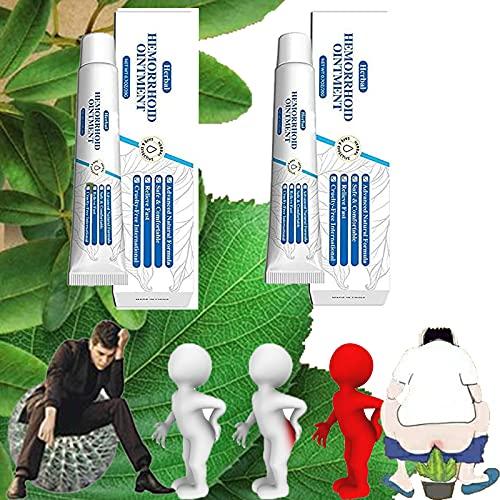 Hemorroides All Organic Ungüento Miracle Cream, Crema para el Tratamiento de Hemorroides Esencia de Hierbas Naturales Sin Estimulación, Ungüento para Hemorroides y Fisuras (2 piezas)