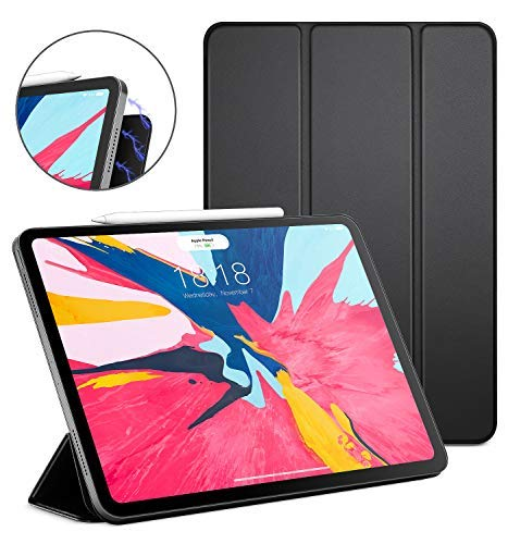 DTTO iPad Pro 11' Case 2018, [Apple Pencil Pair & Charge Supported] Magnetic Attached Smart Cover with All 102 Magnets Precisely Aligned, Auto Sleep/Wake for iPad Pro 11 Inch, Black