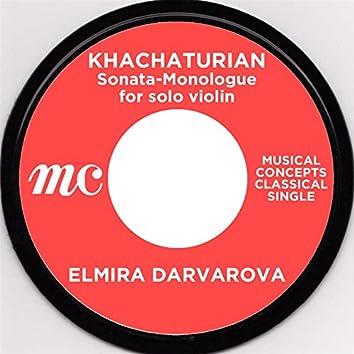 Khachaturian: Sonata-Monologue for solo violin