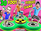30 Feet Giant Fidget Spinner Game! Crash, Ouch, Bang, Jump Challenge, Tricks And Collection FUNnel Vision.
