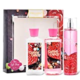 Vital Luxury Bath & Body Care Gift Set - Home Spa Set with Body Lotion, Shower Gel and Fragrance Mist (Cotton Candy)
