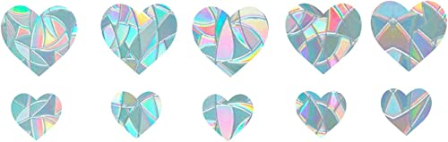 high quality Circle and Heart Window Clings - Anti-Collision Window Rainbow Stickers to Save Birds from Window Collisions, Electrostatic online sale Prismatic Stickers Vinyl Window sale Decals (Heart) sale