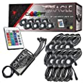 ORACLE Bluetooth + RF ColorSHIFT Underbody Rock Light Kit - Eight Piece Automotive Underglow LED Lights with Bluetooth App Control Module - Part # 5819-333