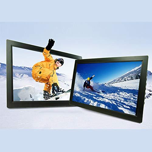Linbing666 19-Zoll-Digital-Foto-Rahmen, High-Definition ultradünne Ultra-Clear HDMI elektronisches Album IPS High-Definition-Bildschirm, Multi-Funktions-und Multi-Language Menschlicher Körper Sensing