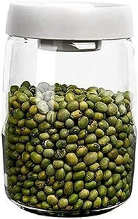 Bocaux De Stockage avec Couvercles Boîte À Thé Récipients pour Aliments De Cuisine Grande Capacité en Grains De Café Hermé...
