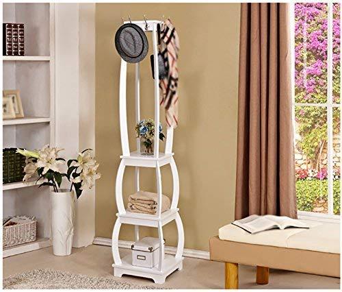 FF Droogkaprek Hangers Witte kapstok Houten staande hangers Slaapkamer Woonkamer Hallway Kleren rek Multifunctionele plank Droogrek voor kleren