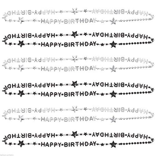 Surprises d'anniversaire - 6 Colliers Happy Birthday