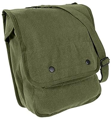 Rothco Canvas Map Case Shoulder Bag, Olive Drab