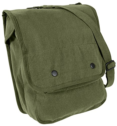 Rothco Canvas Map Case Shoulder Bag, Olive Drab