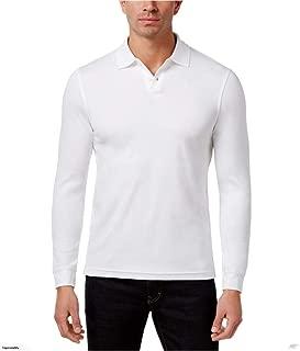 Tasso Elba Mens Long Sleeve Supima Polo Rugby Shirt