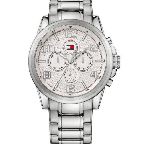 Tommy Hilfiger 1710240 - Reloj de Caballero de Cuarzo, Correa de Acero Inoxidable Color Plata