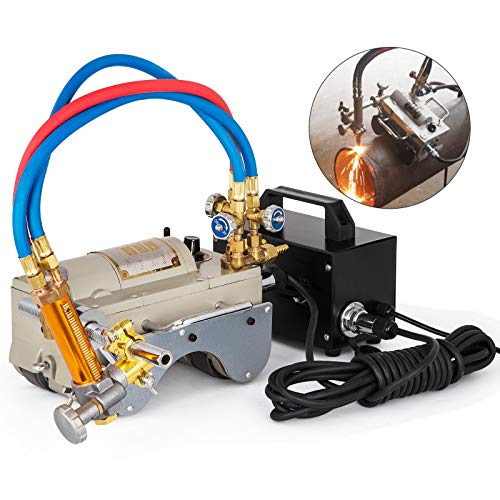 Mophorn CG2-11 Magnetic Tunnel Pipe Gas Cutting Machine 5-50mm Torch Beveling Gas Cutter Precise Pipe Cutting Machine Efficient Pipe Beveling Machine Tube Pipe Cutter Tool 220V (Acetylene + Propane)