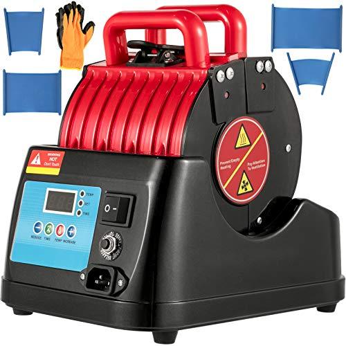 VEVOR P6100-01 Rote Tassenpresse 600 W Becherpresse Sublimationspresse mit Kabellänge 400 ℃ Heisspresse Hitzepresse Transferpresse Tassen Bedrucken beinhaltet Multifunktionale Sublimations-Drucker
