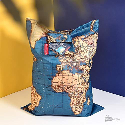 Kikkerland Travel Laundry Bag - World Map, 41cm x 56cm