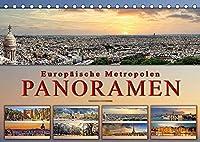 Europaeische Metropolen - Panoramen (Tischkalender 2022 DIN A5 quer): Eindrucksvolle Metropolen Europas in aussergewoehnlichen Panoramen. (Monatskalender, 14 Seiten )