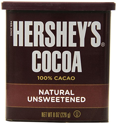 Hershey\'s Cocoa, Unsweetened, 8-Ounce Container