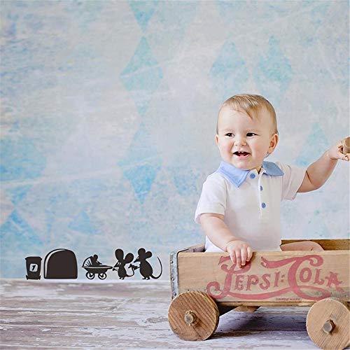 Autocollant Mickey Minnie Mouse Wall Art Sticker Autocollant Petite Souris Pousser Bébé Poussette Autocollant Enfants Autocollants De Voiture Autocollants Décoratifs Autocollants Gratuits